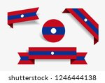 laotian flag stickers and... | Shutterstock .eps vector #1246444138