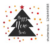 merry christmas flyer. posters. ... | Shutterstock .eps vector #1246444585