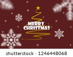 christmas yellow tree... | Shutterstock . vector #1246448068