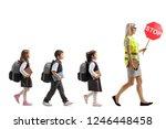 full length profile shot of... | Shutterstock . vector #1246448458