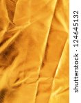 golden crumpled  fabric texture | Shutterstock . vector #124645132