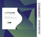 modern trendy landing page and...