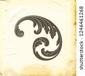 retro baroque decorations... | Shutterstock .eps vector #1246461268