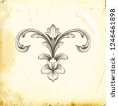 retro baroque decorations... | Shutterstock .eps vector #1246461898
