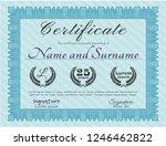 light blue certificate of... | Shutterstock .eps vector #1246462822
