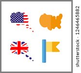 4 government icon. vector... | Shutterstock .eps vector #1246465882