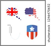 4 government icon. vector... | Shutterstock .eps vector #1246470652