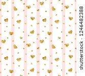 gold heart seamless pattern.... | Shutterstock . vector #1246482388