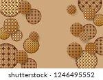 golden background for chinese...   Shutterstock .eps vector #1246495552