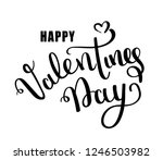 happy valentines day vector... | Shutterstock .eps vector #1246503982