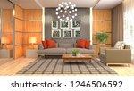 interior of the living room. 3d ... | Shutterstock . vector #1246506592