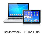 laptop and tablet pc computer...   Shutterstock . vector #124651186