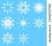 collection of artistic icy... | Shutterstock . vector #1246523782