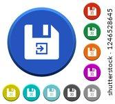 import file round color beveled ... | Shutterstock .eps vector #1246528645