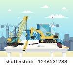 vector concept modern city... | Shutterstock .eps vector #1246531288