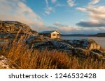 wooden house for relaxation... | Shutterstock . vector #1246532428