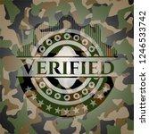 verified on camo texture | Shutterstock .eps vector #1246533742
