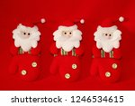 Red Christmas Figurines Of...