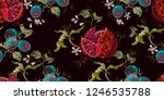 embroidery ripened red... | Shutterstock .eps vector #1246535788
