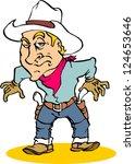 cowboy | Shutterstock .eps vector #124653646