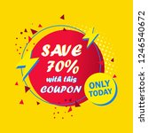 sale coupon design save up to... | Shutterstock .eps vector #1246540672