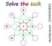 worksheet. mathematical puzzle...   Shutterstock .eps vector #1246543852