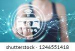 businesswoman on blurred... | Shutterstock . vector #1246551418