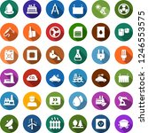 color back flat icon set  ... | Shutterstock .eps vector #1246553575