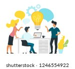 problem solving concept with... | Shutterstock .eps vector #1246554922