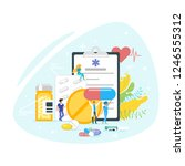 medication and pharmacy concept.... | Shutterstock .eps vector #1246555312