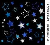 embroidery christmas stars....   Shutterstock .eps vector #1246555375