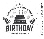 wish you a very happy birthday... | Shutterstock .eps vector #1246558342