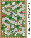 race track. board game. view... | Shutterstock .eps vector #1246561255