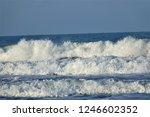 stormy windy waves on... | Shutterstock . vector #1246602352