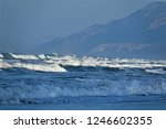 stormy windy waves on... | Shutterstock . vector #1246602355