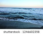 stormy windy waves on... | Shutterstock . vector #1246602358
