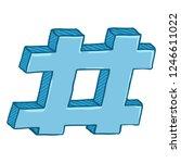 vector cartoon blue hashtag... | Shutterstock .eps vector #1246611022