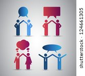 people icons with speech bubbles | Shutterstock .eps vector #124661305