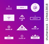 swipe up icon set isolated on... | Shutterstock .eps vector #1246613818