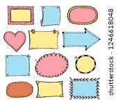 hand drawn set of simple frame... | Shutterstock .eps vector #1246618048