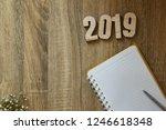 work goal concept new year 2019 ... | Shutterstock . vector #1246618348