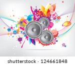 abstract musical background...   Shutterstock .eps vector #124661848