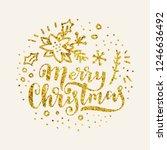 merry christmas calligraphy in...   Shutterstock .eps vector #1246636492