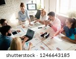 group of young businesspeople... | Shutterstock . vector #1246643185