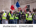 2018  december 1th   paris ... | Shutterstock . vector #1246651888