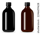 bottles pack for medical... | Shutterstock .eps vector #1246659628