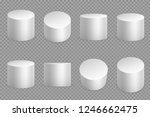 round podium 3d bases. white... | Shutterstock .eps vector #1246662475