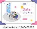 flat isometric vector concept... | Shutterstock .eps vector #1246663522