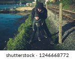 a little toddler and his... | Shutterstock . vector #1246668772