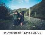 a little toddler and his... | Shutterstock . vector #1246668778